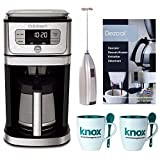 Cuisinart DGB-800 Burr Grind & Brew Coffeemaker, Stainless Steel Includes Handheld Milk Frother and Descaling Powder and Two Mugs with Spoons Review