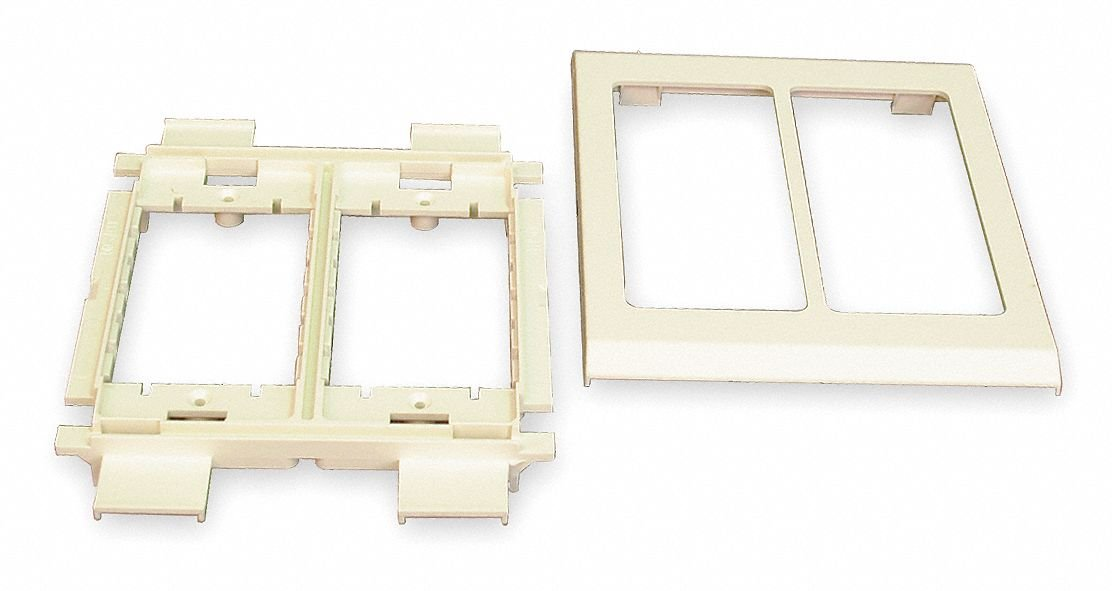 High Density Plastic Device Bracket For Use With 4000 Raceway, Ivory