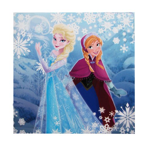 (Disney Frozen Elsa Anna Snowflakes Stretched Canvas Print)