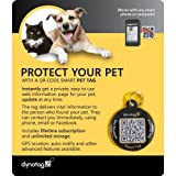 Dog ID Tags by Dynotag (LIFE TIME WARRANTY) Smart Dog ID Tag with GPS