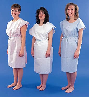 Amazon.com : `Paper Patient Exam Gowns- White Bx/50 : Home Medical ...