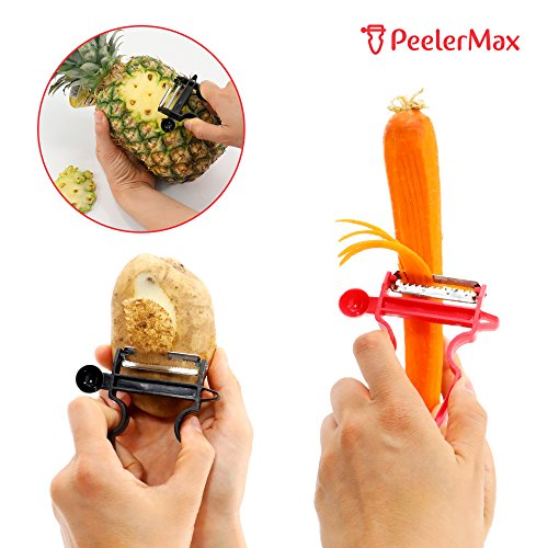 Magic Trio Peeler [2018 NEW] - Peel Anything In Seconds With The Amazing 3pc Peeler Set (Set of 3) [Ship From US] by Infina (Image #4)