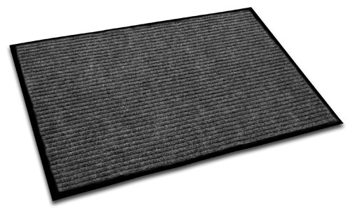 Entrance Scrape (Doortex Ribmat, Indoor Entrance Mat, Charcoal Grey, 24