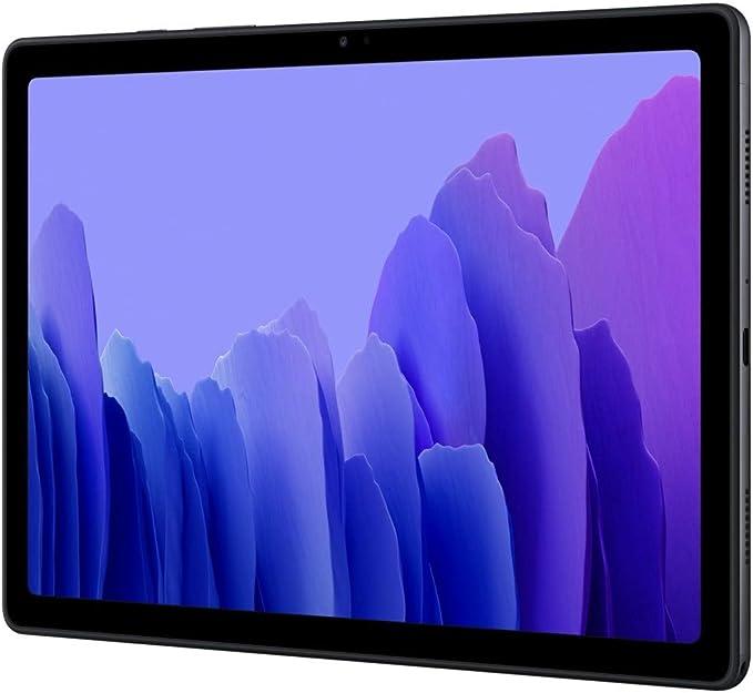 """Amazon.com: Samsung Galaxy Tab A7 10.4"""" 2020 (64GB, 3GB) Wi-Fi sólo Android 10 One UI Tablet, Snapdragon 662, 7040mAh batería, SM-T500 (64GB SD Bundle, gris oscuro): Computers & Accessories"""