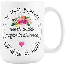 Long Distance Mug for Mom, Large 15 oz Ceramic Coffee Mug, Mother's Day Gift