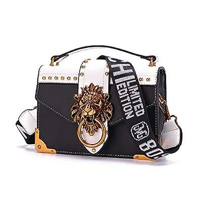 Cazacozy sac /à main de luxe pour femme fashion sac port/é main /à bandouli/ère pu cuir noir blanc