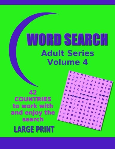 Word Search Adult 4 Countries