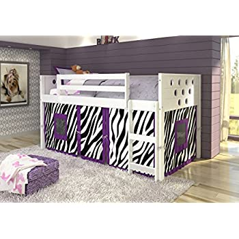 DONCO KIDS Circle Low Loft With Zebra Tent Twin