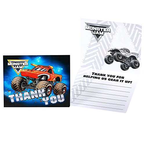 Candy Crush Costume Theme (Monster Jam Party Supplies - Thank You Notes)