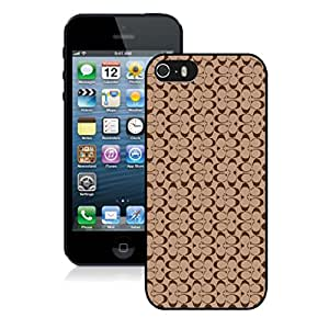Coach 25 Black iPhone 5S Screen Cellphone Case Beautiful And High Quality Case