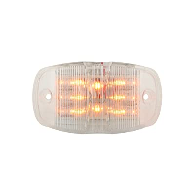 Grand General 76251 Amber Rectangular Camel Back Wide Angle 14-LED Marker and Clearance Sealed Light with Clear Lens: Automotive
