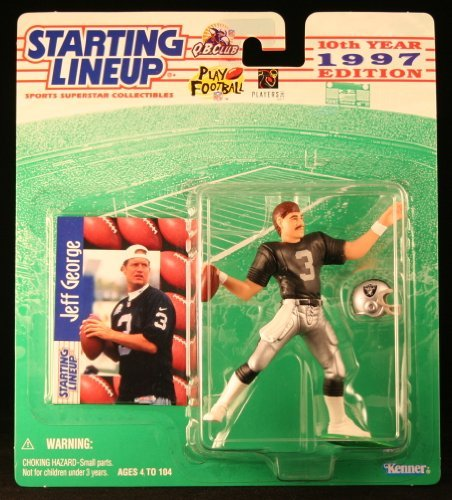 JEFF GEORGE / OAKLAND RAIDERS 1997 NFL Starting Lineup Action Figure & Exclusive NFL Collector Trading Card