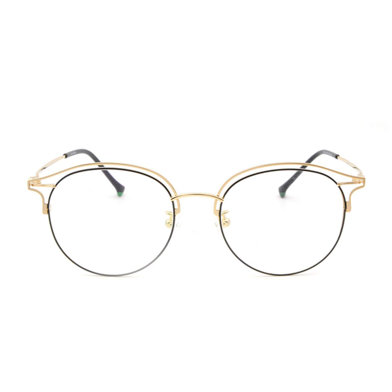 Glasses Frame Myopia Glasses Frame Full Frame Super Light Lady Frame Fashion Beta Titanium Black gold