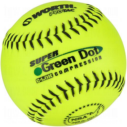 Worth YS11NS4 NSA Stamped 11-Inch Protac Slowpitch Softball (Pack of 12) by Worth