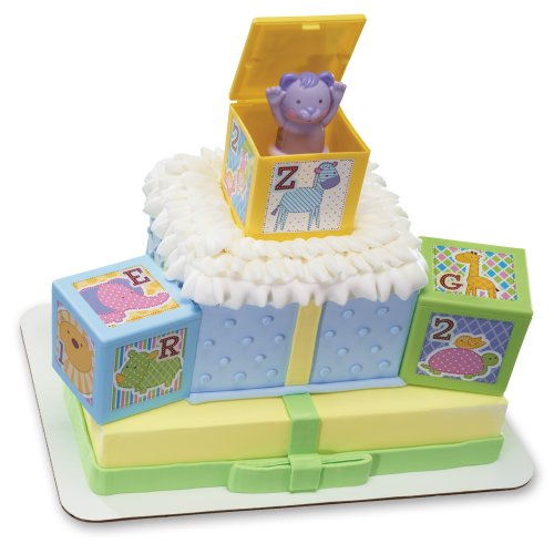 Decopac ABC Baby Blocks Signature DecoSet Cake -