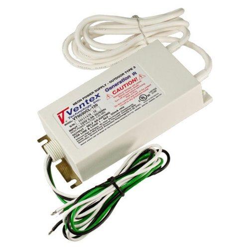 [Ventex Technology VT9030CL-120 - Generation III - Self Adjusting - Neon Channel Letter Transformer - Indoor/Outdoor - 100 to 9,000 Volt - 30 mA - 120 Volt Input] (Ventex Transformer)
