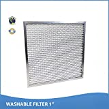 16x25x1 Washable Permanent A/C Furnace Air Filter. Low Air Resistance