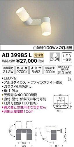 コイズミ照明 LED可動ブラケット(白熱球60W×2灯相当) 電球色 AB40590L B00KVWKTAS 11612 白熱球60W×2灯 プラスチック  白熱球60W×2灯