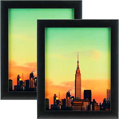 2 Piece Finish - Craig Frames 1WB3BK 22 by 28-Inch Picture Frame 2-Piece Set, Smooth Finish, 1-Inch Wide, Black