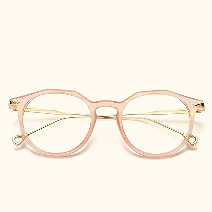 4d3476c9ec Kajuer Gafas de Montura Cuadrada Gafas metálicas Planas Gafas para Mujeres  Gafas para Mujeres/Hombres