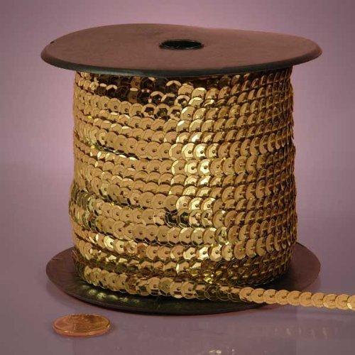 Light Gold Metallic Sequins, 6mm X 80Yd