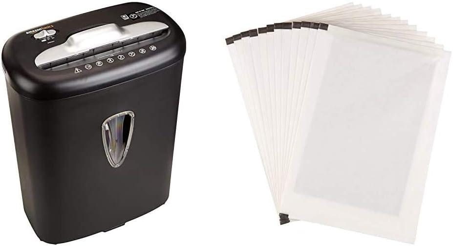 para 8 Hojas Basics Hojas para lubricar y afilar trituradoras Pack de 12 Trituradora de Corte Cruzado para Tarjetas de cr/édito y Papel