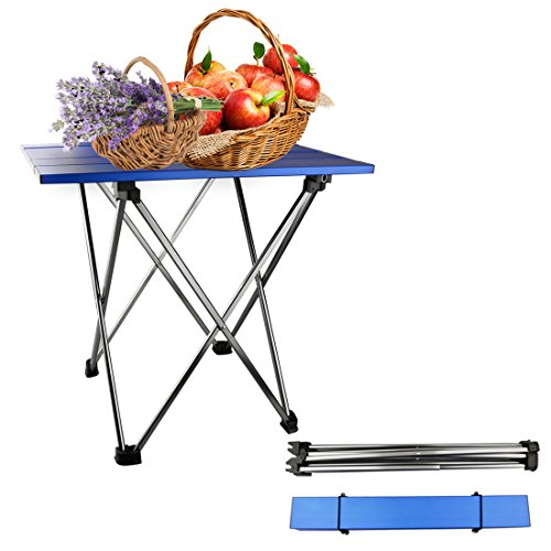 A-SZCXTOP Outdoor Portable Ultralight Aluminum Alloy Folding Table for Barbecue Camping Picnic Collapsible Simple Mini Table. by A-SZCXTOP