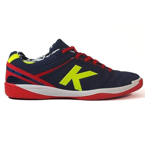 KELME Zapatillas fútbol Sala Goleiro 18 Indigo/Rojo: Amazon.es: Zapatos y complementos