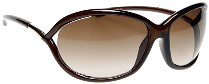 ef8df8acee Tom Ford 0008 692 Brown Jennifer Wrap Sunglasses Lens Category 2 ...