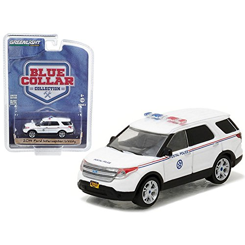 Greenlight 1: 64 Blue Collar Collection Series 2 - 2014 Ford Explorer Postal Police Diecast Vehicle (Toy Ford Explorer Police Car)