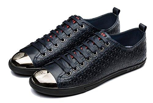 Hombre Blue 3 Piel Cordones Zapatos de OPP para de nwxYfP7A0q