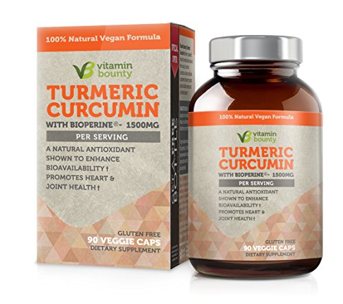 Vitamin Bounty Turmeric Curcumin Supplement – with Bioperine, 95% Standardized Curcuminoids
