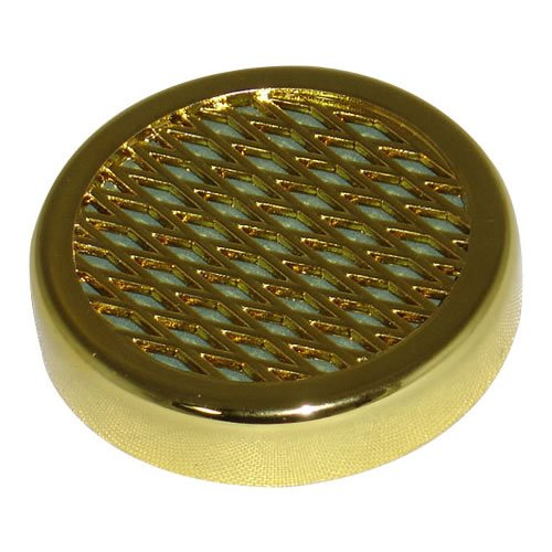 Cigar Humidifier For Humidors - Small Round Humidifiers - Gold Tone. 2.25 Diameter and 0.5 depth. (Crafters Cuban Humidor)