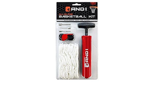 AND1 Basketball Pump Hand Inflator Kit Red for sale online