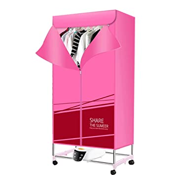 Secadora de Ropa portátil Calentador 1300W tendedero eléctrico Plegable de Aire Caliente pequeña Secado rápido con Control Remoto (Color : Pink): Amazon.es: ...