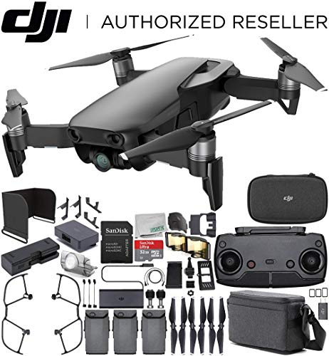 DJI Mavic Air Drone Quadcopter Fly More Combo (Onyx Black) Bundle