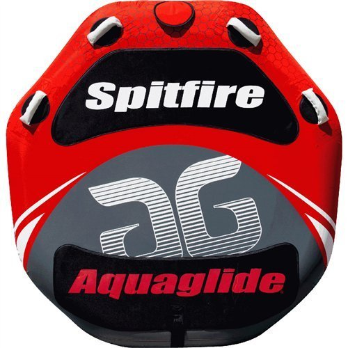 Aquaglide Spitfire 60 Two-Person Towable Tube Package with 12V Inflator and Tow Rope (Aquaglide Tube)