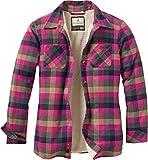 Legendary Whitetails Women's Open Country Shirt Jacket Fuchsia Navy Plaid Small