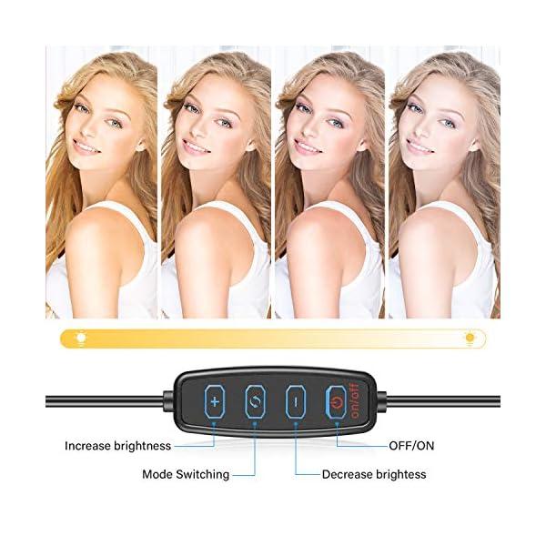 Aro de luz con trípode. Controla la intensidad de la luz según tus necesidades. Ideal para resaltar tu rostro en tutoriales de maquillaje
