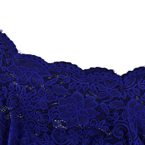 Blu MIUSOL da Pizzo Donna Sera Vestito Vintage Lunghe 1 Floreale pwrxqHFp8