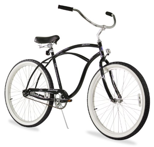 (Firmstrong Urban Man Single Speed Beach Cruiser Bicycle, 26-Inch, Black)