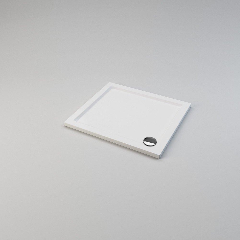 Waste Trap ELEGANT Rectangular 900 x 800 x 40mm Stone Tray for Shower Enclosure Cubicle