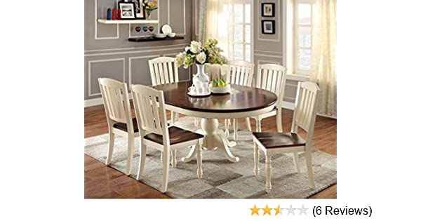 Amazon Furniture of America Pauline 7 Piece Cottage Style