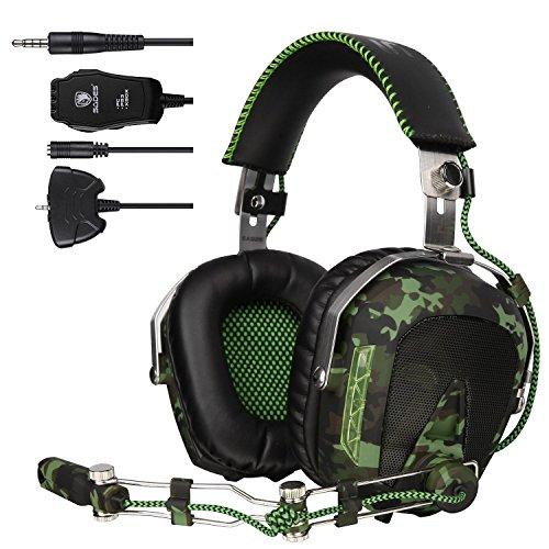SADES SA 926 Stereo Gaming Headset Over-Ear-Kopfhörer mit Mikrofon für PS4 / PS3 / Xbox One / Xbox 360 / PC / Mac / Smart Phone / iPhone (Armee-Grün)