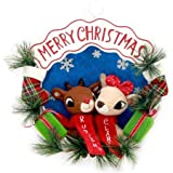 Holiday Time Rudolph and Friends Merry Christmas Wreath