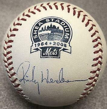 (Rickey Henderson Signed Baseball - Rawlings Final Season Shea - Steiner Sports Certified - Autographed Baseballs)
