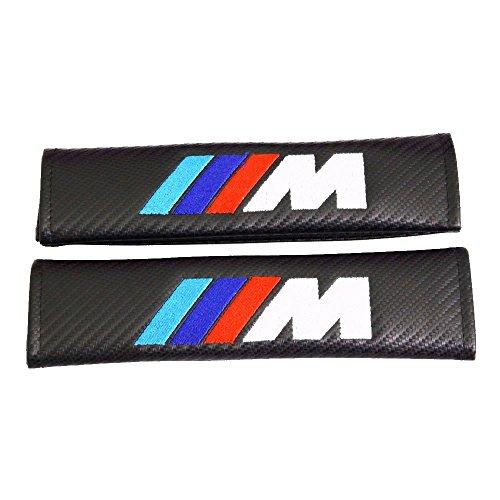 Spec-R ///M Carbon Fiber Seat Belt Cover Shoulder Pad Cushion - 1 pair (Seat Types Belt Pad)