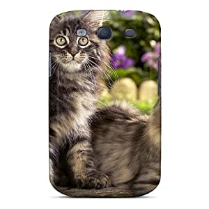 RachelMHudson Scratch-free Phone Case For Galaxy S3- Retail Packaging - Beautiful Cats