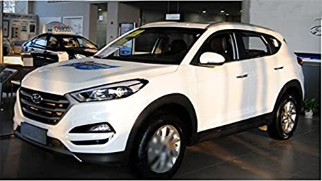Fit para Hyundai Tucson Totalmente nuevo 2015 2016 2017 2 pcs ABS techo techo accesorio de side Rail Bar - Plata: Amazon.es: Coche y moto