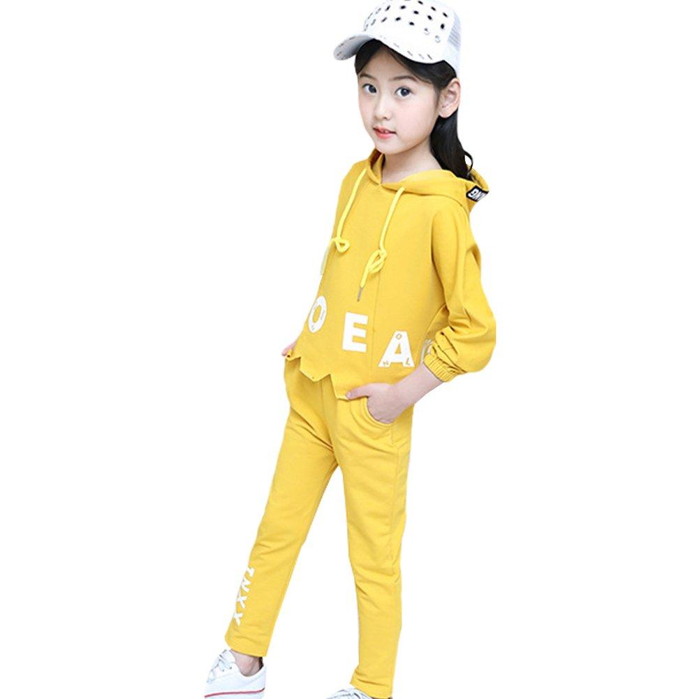M&A Girls Fashion Tracksuit Clothing Set Hoodie + Pants Spring Autumn